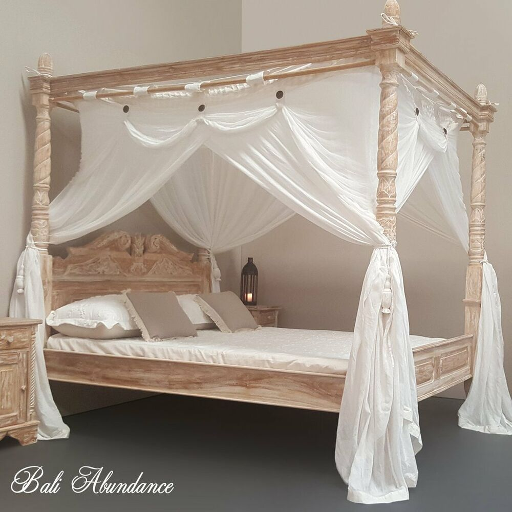 Hand Carved Bed: NOW TAKING ORDERS Teak Hand Carved Four Poster Bed PAY