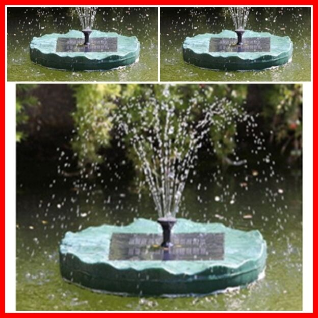 Solar Floating Lily Pad Water Fountain Solar 1 3 W Powered Pond Pool Day Runner Ebay