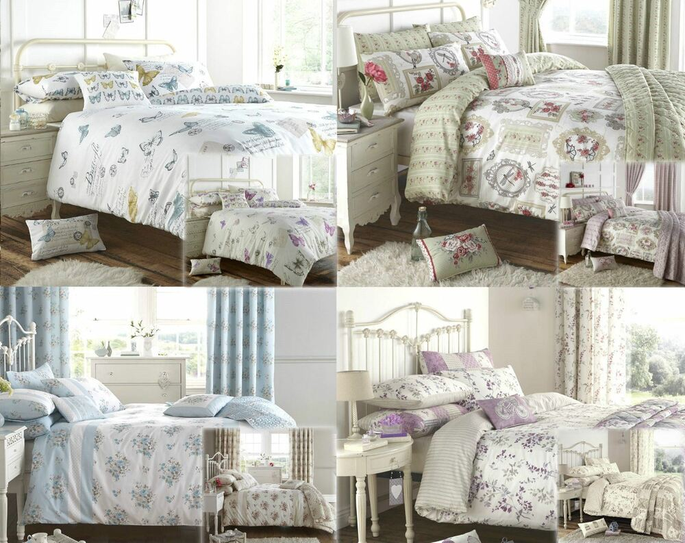 Shelly Floral Duvet Cover Quilt Bedding Set Or Curtains