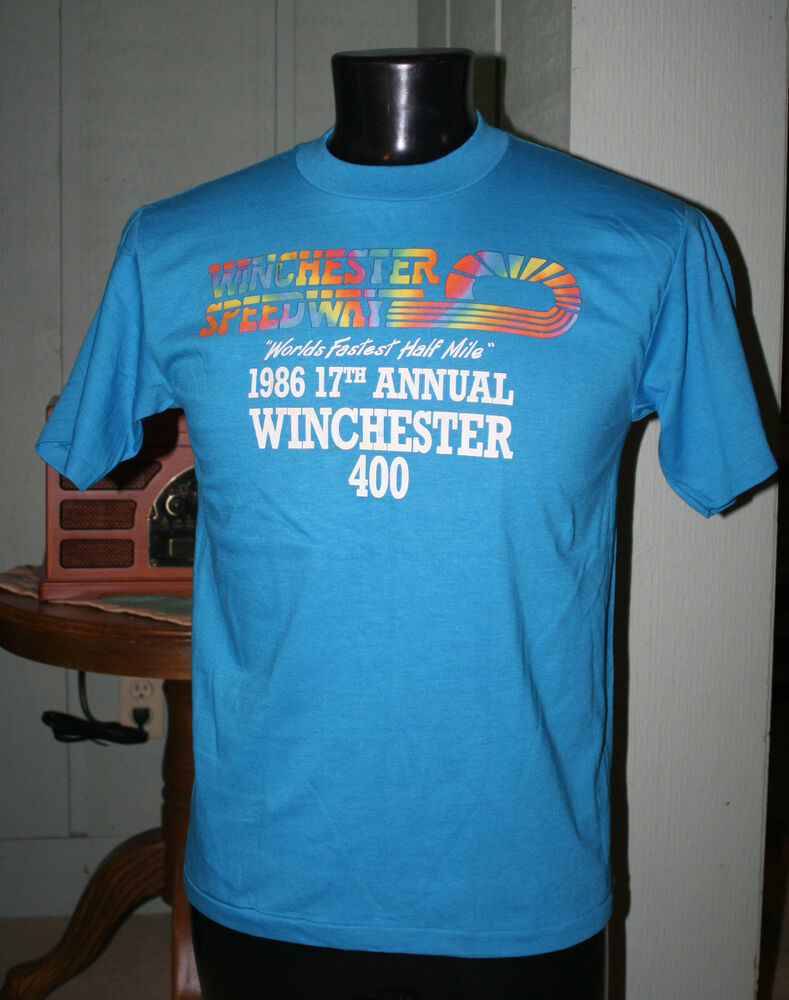 Vintage winchester speedway 1986 winchester 400 racing t for Indianapolis motor speedway clothing