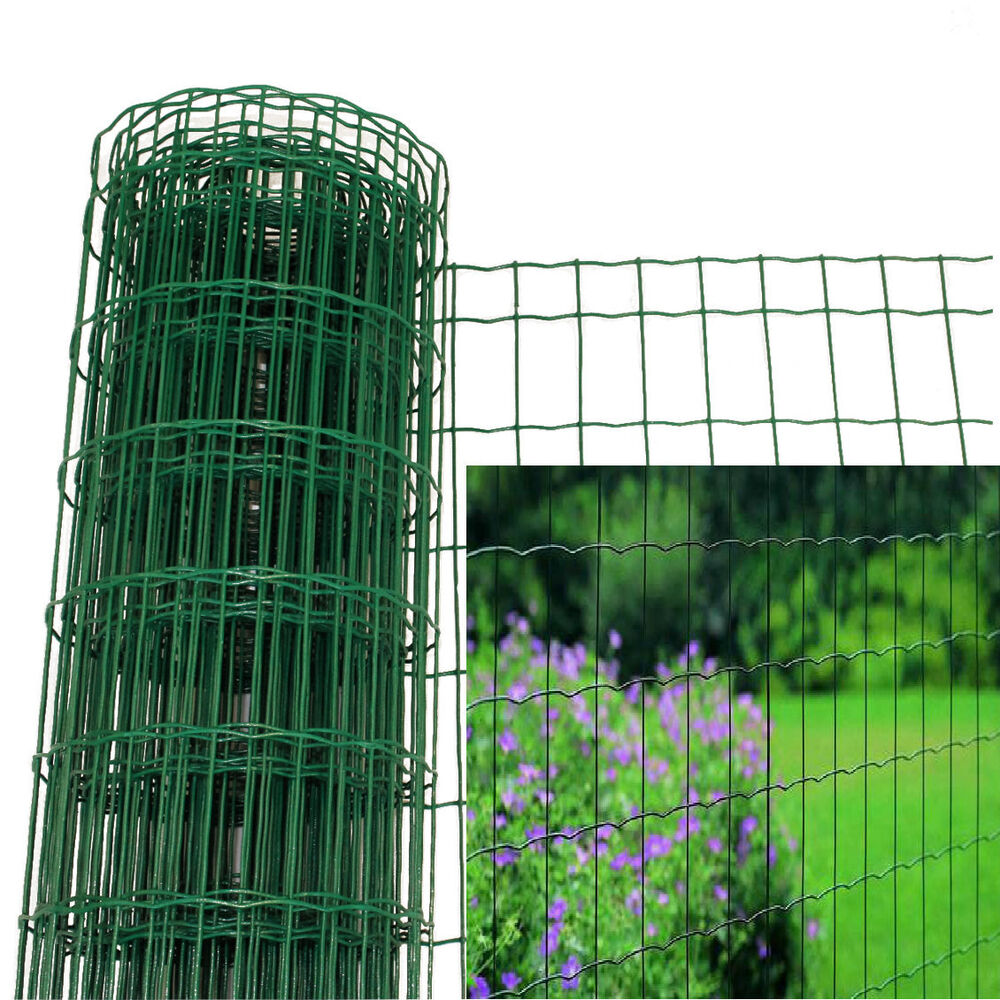 True metal wire garden border fence galvanised pvc