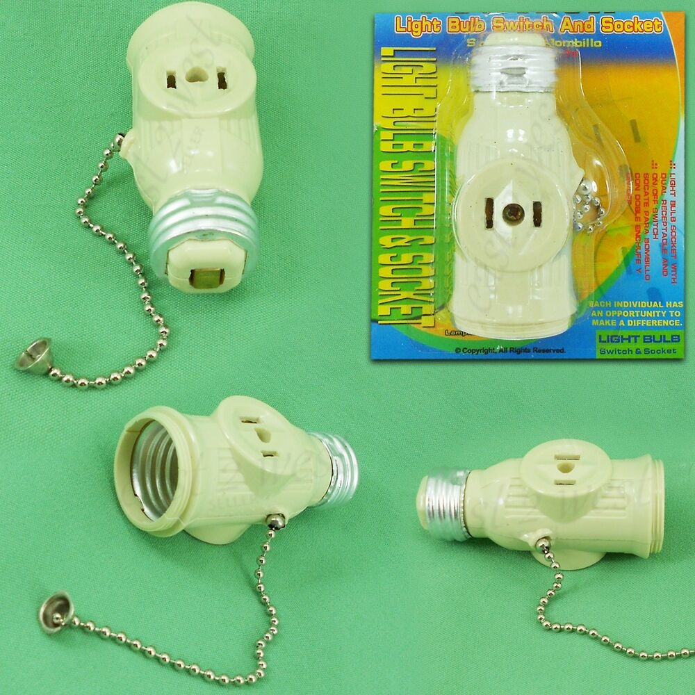 Light Bulb E27 Switch and Socket with on/off Pull Chain with 2 Prong ...