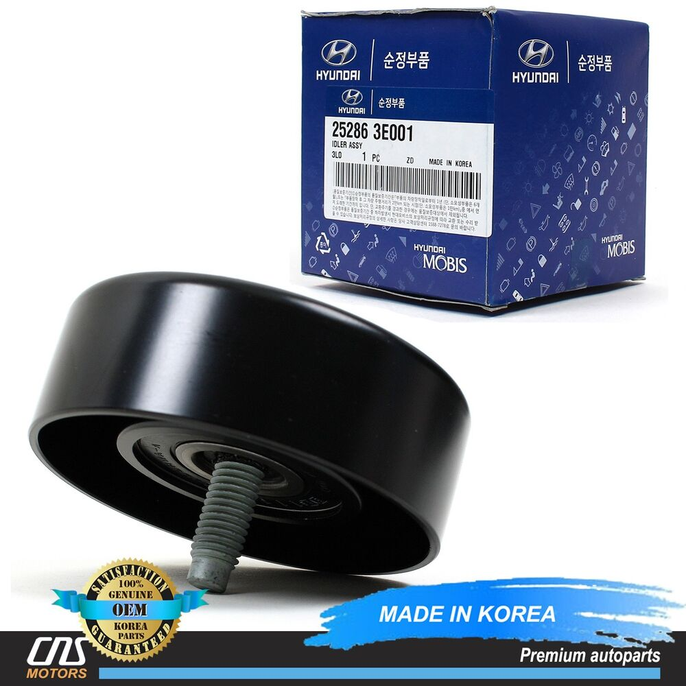 genuine idler pulley fits 06 10 hyundai santa fe kia optima rondo magentis 2 7l ebay. Black Bedroom Furniture Sets. Home Design Ideas