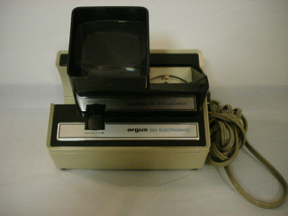 vintage argus 693 electromatic 35mm 2 x 2 slide viewer. Black Bedroom Furniture Sets. Home Design Ideas