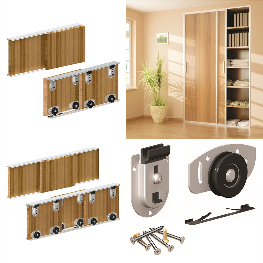 Ares Sliding Wardrobe Door Gear Track Kit Diy Bottom Roll