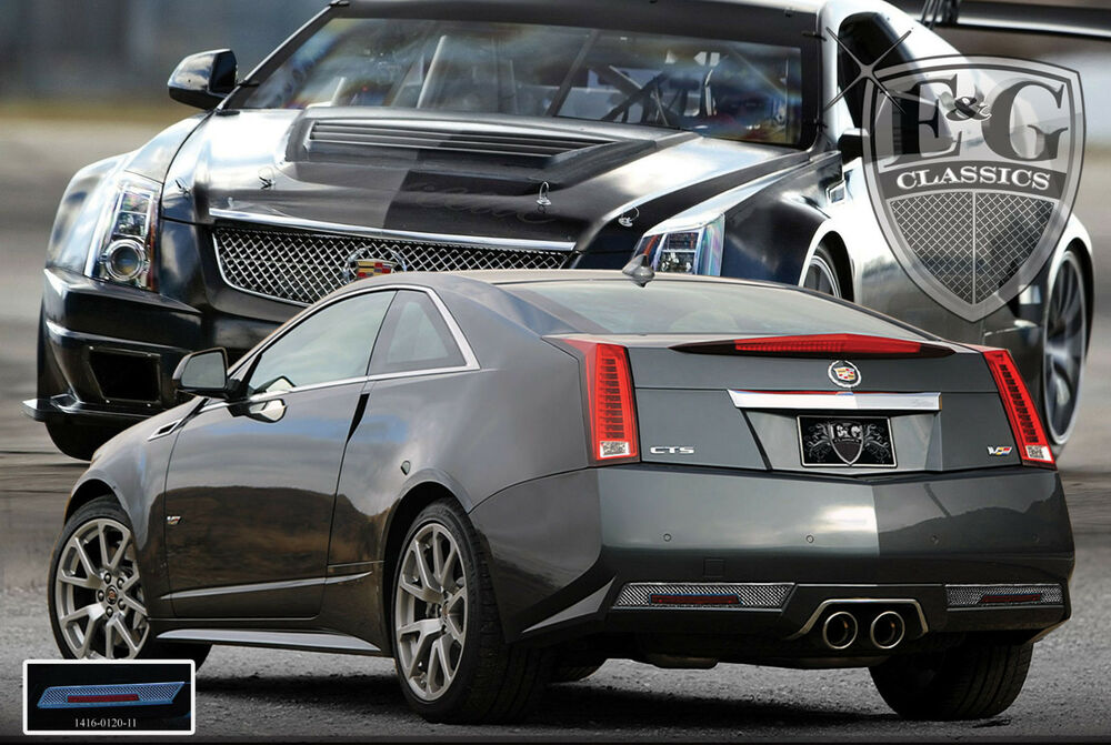 2011 2012 2013 cadillac cady cts v coupe rear mesh bumper accent kit e g ebay. Black Bedroom Furniture Sets. Home Design Ideas