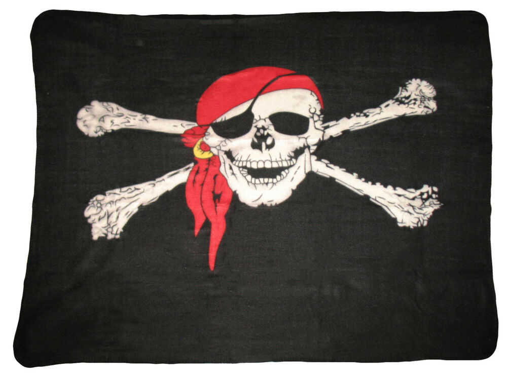 Jolly Roger Red Hat Pirate Skull And Bones 50 X 60 Polar