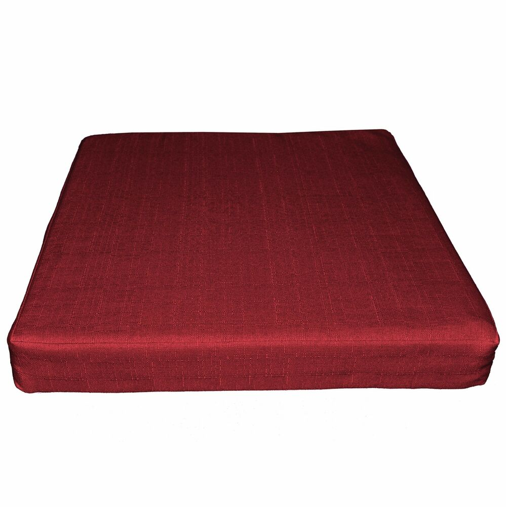 qh15t deep red thick cotton blend 3d box sofa seat cushion cover custom size ebay. Black Bedroom Furniture Sets. Home Design Ideas