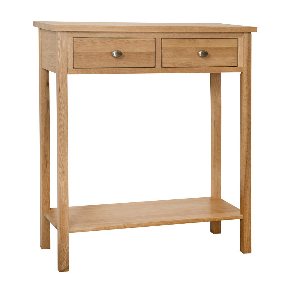 Solid oak telephone lamp hall console table unit ebay for Hall console table