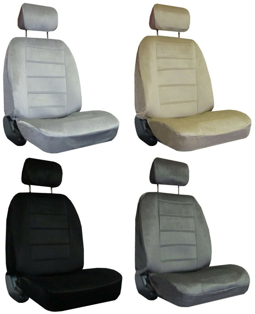 for 2010 2012 ford fusion 2 quilted velour encore solid colors seat covers ebay. Black Bedroom Furniture Sets. Home Design Ideas