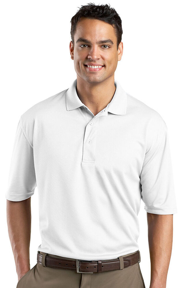 Port authority men 39 s polyester three button golf polyester for 3 button polo shirts