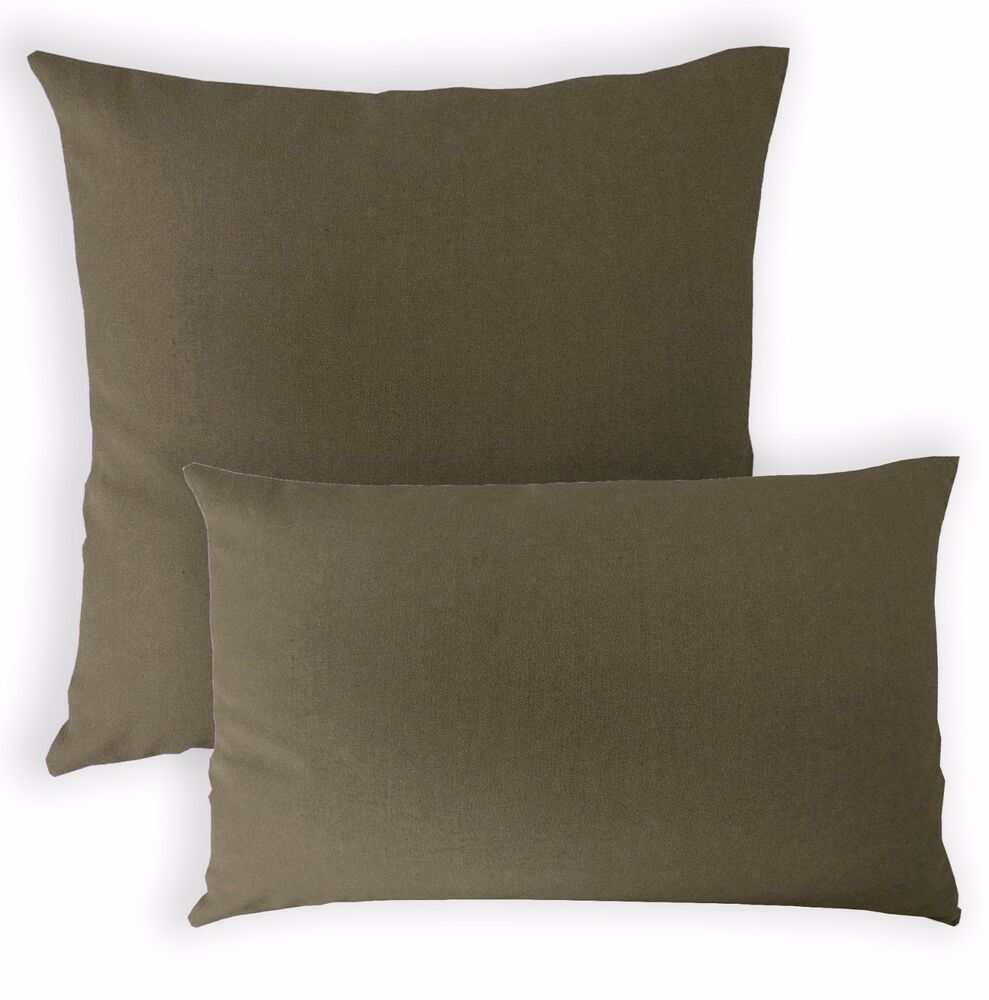 Aa200a Army Green Cotton Canvas Cushion Cover Pillow Case