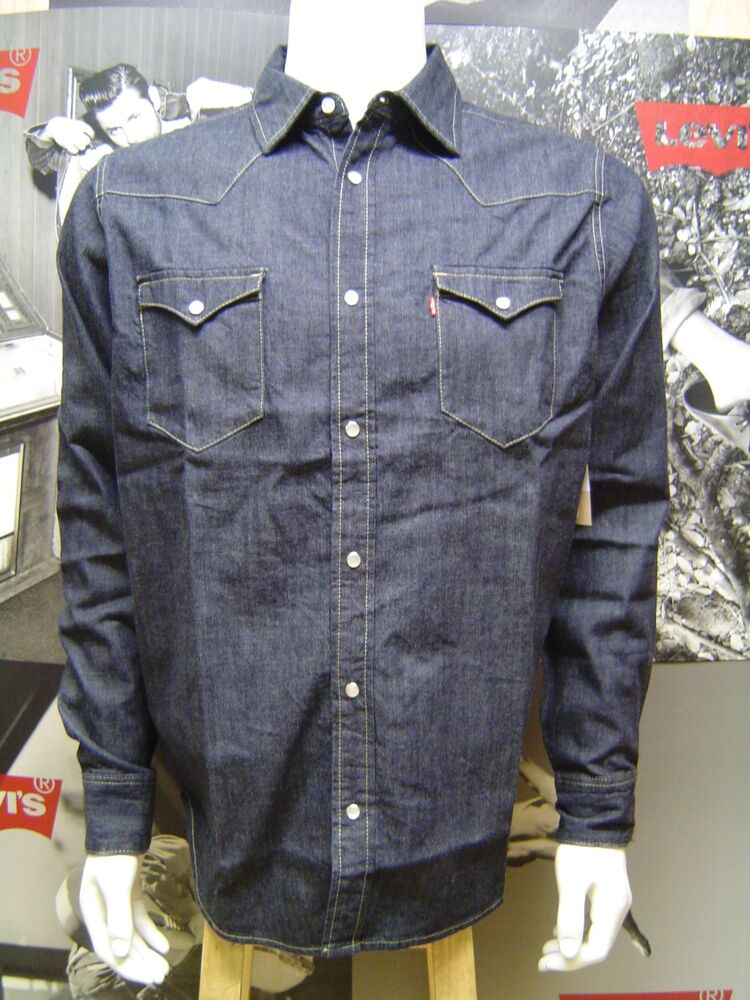 LEVI'S MEN'S BARSTOW WESTERN PEARL SNAP FRONT DENIM SHIRT ...