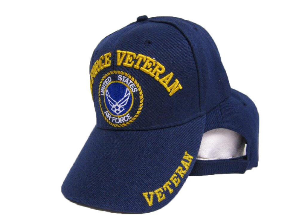 Air Force Veteran Shadow Usaf Us Embroidered Blue Ball Cap