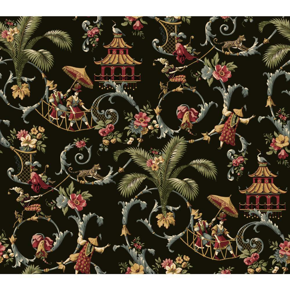 Waverly wallpaper wa7769 mandarin prose oriental asian for Waverly wallpaper