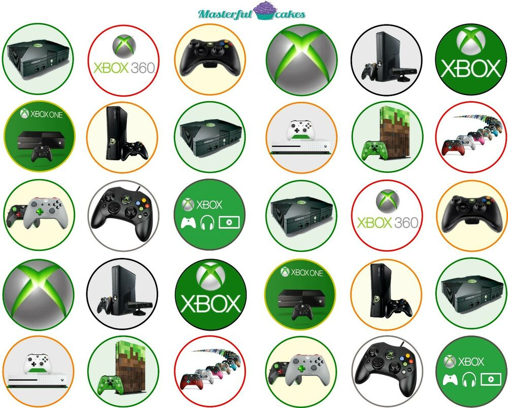 X Box Birthday Cake Toppers