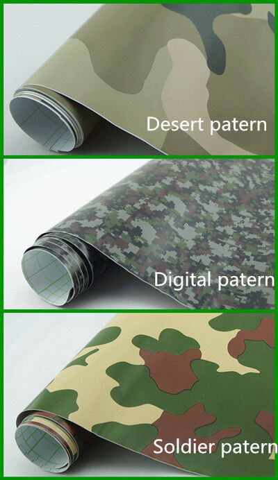 Camouflage Camo Vinyl Car Wrap Different Samples Sizes