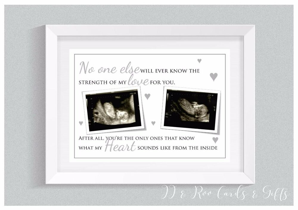 Scan Design Wall Art : A personalised print baby scan photo nursery decor wall