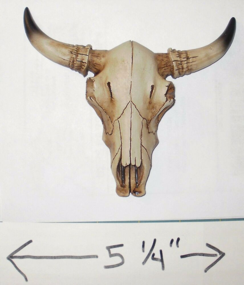 New 5 25 Quot Wide Bull Skull W Horns Western Tribal Wall