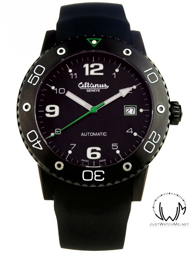 Altanus geneve automatic master sub diver men 39 s watch swiss made ebay for Swiss made watches