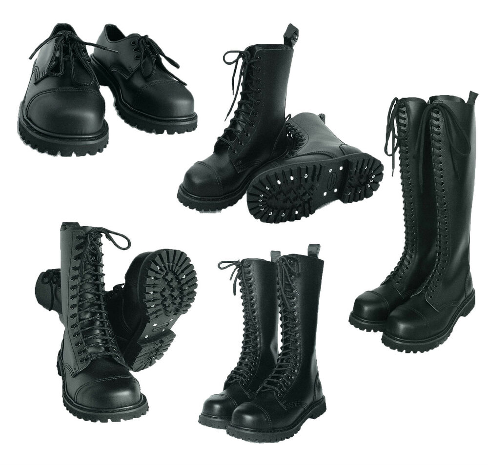 uk ranger gothic punk style leder loch boots. Black Bedroom Furniture Sets. Home Design Ideas