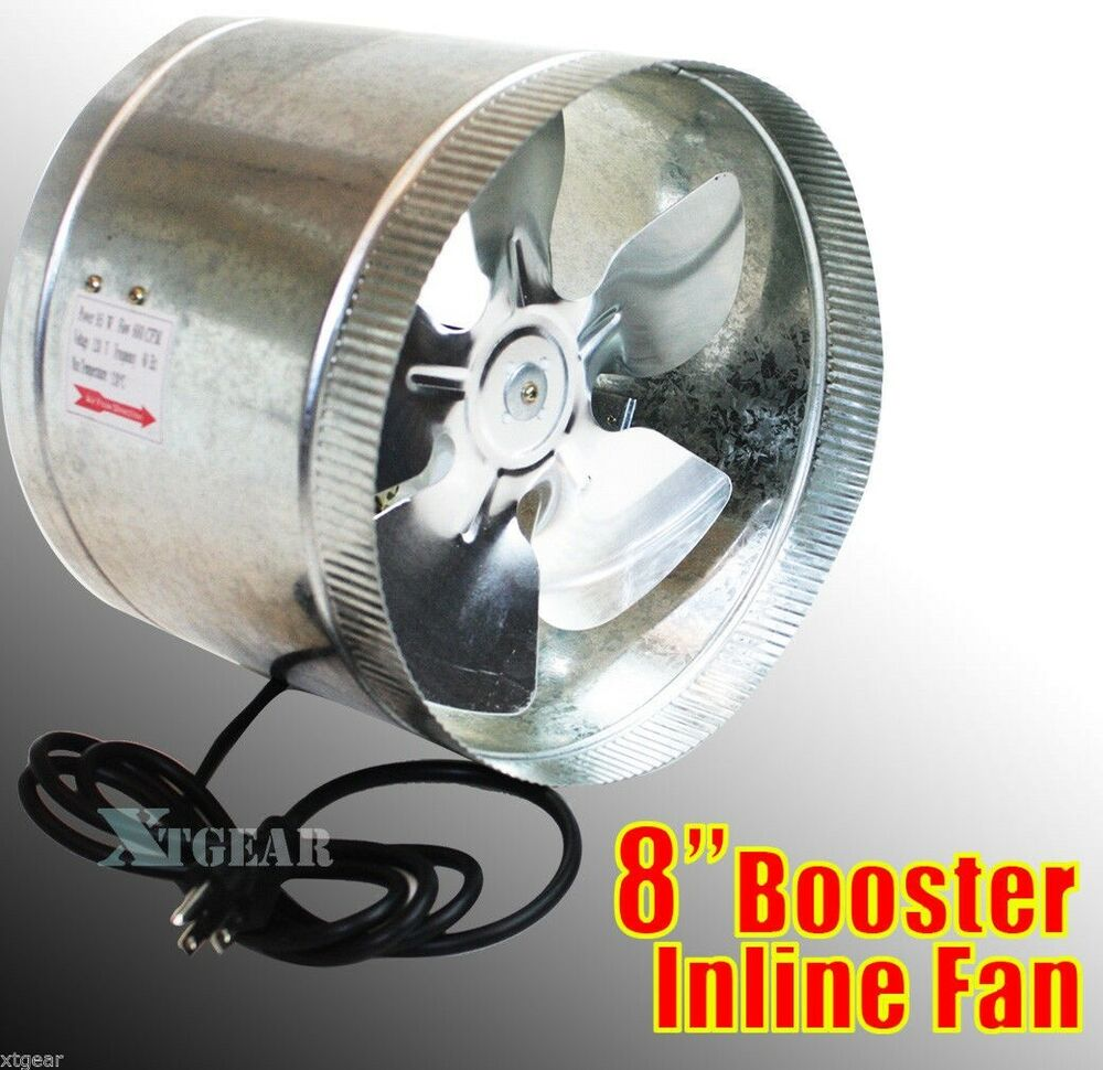 Air Duct Blower Fan : Quot duct booster inline blower fan exhaust vent air cooled