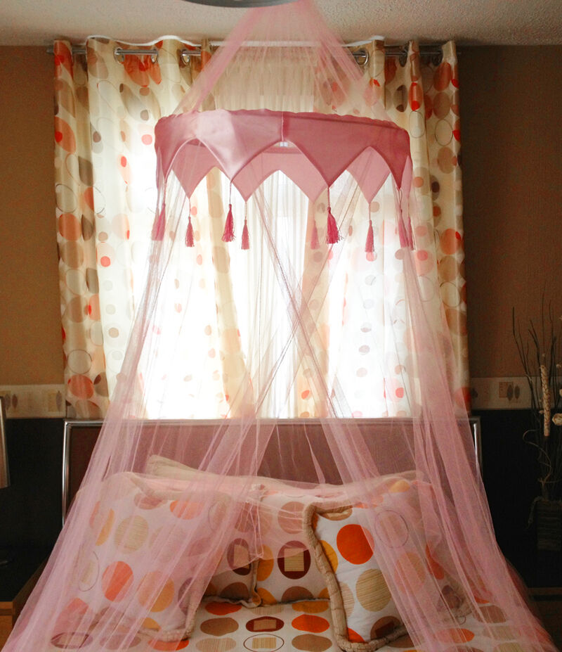 Beautiful Pink Mosquito Fly Canopy Net Netting For Single