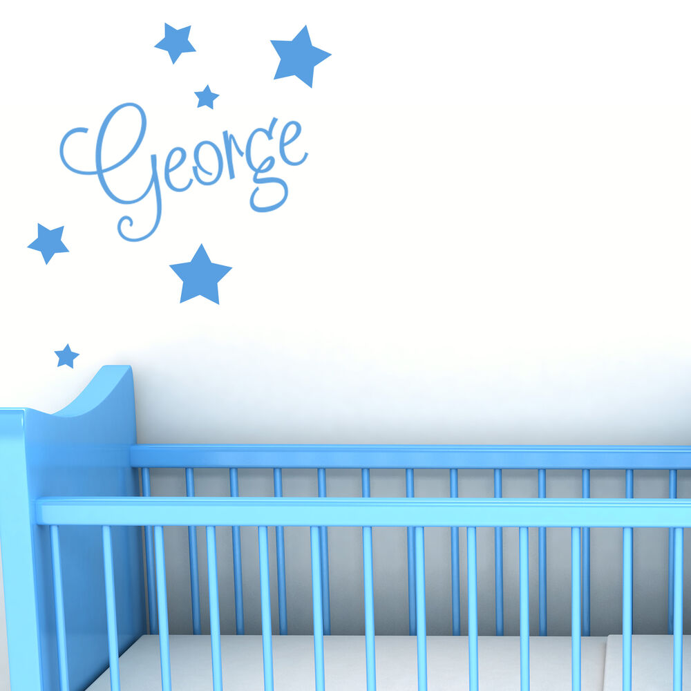 Bedroom Wall Art Uk Art For Bedroom Wall Bedroom Wall Decor For Teenagers Boy Bedroom For Baby Boy: Personalised Name With Stars Wall Art Custom Boys Bedroom Vinyl Kids Sticker