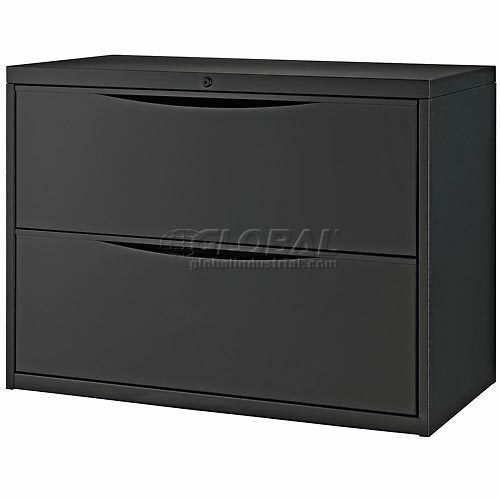 black lateral file cabinet interion 36 quot premium lateral file cabinet 2 drawer black 12411