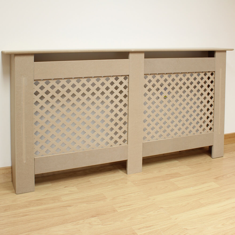 Traditional home large size radiator wall cabinet cover for Homemade mdf furniture