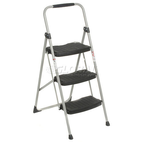 Werner 3 Step Steel Folding Step Ladder 225 Lb Cap 223