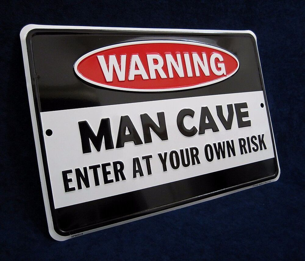 Stores That Sell Man Cave Signs : Man cave embossed metal tin sign made in usa