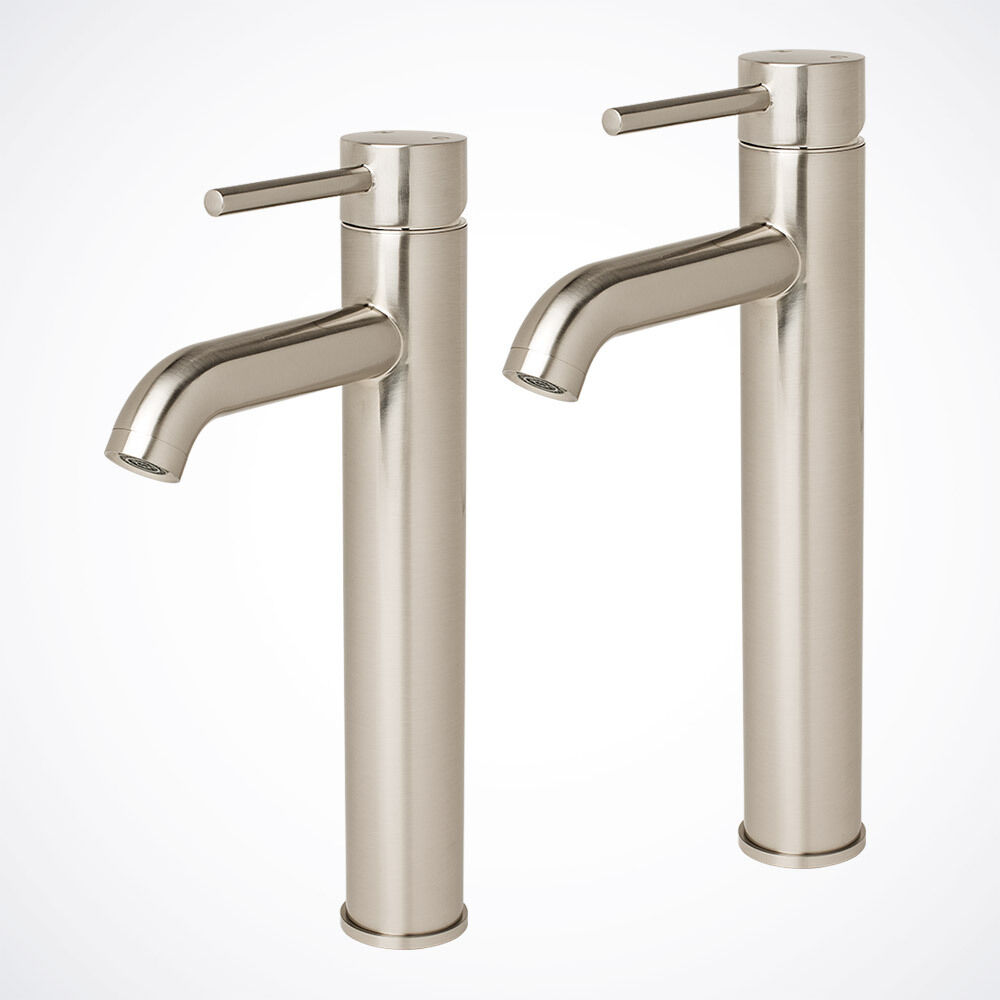 2pcs New 12 Modern Vessel Sink Bathroom Faucet Vanity Lavatory Brushed Nickel Ebay