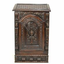 Stunning 17th / 18th C. Carved Oak French Religious Prie Dieu Prayer Cabinet