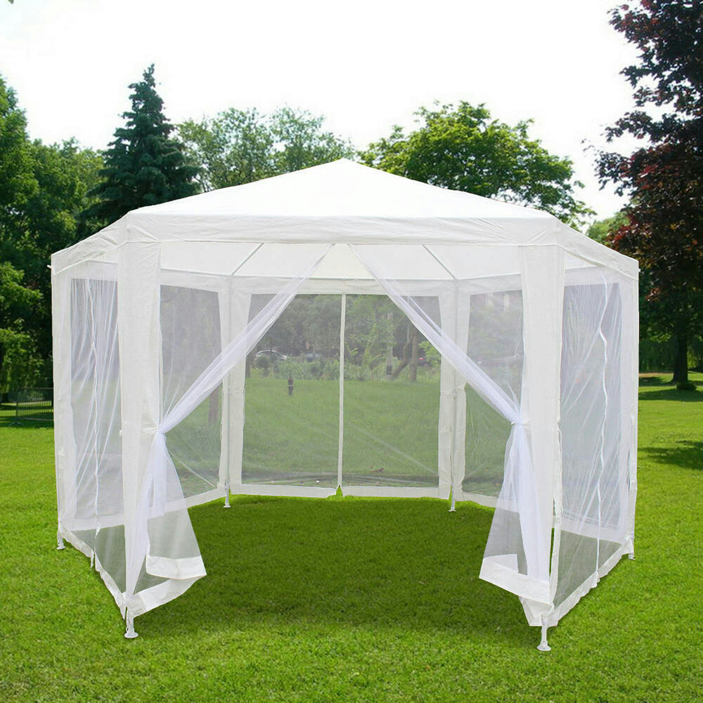 Quictent 6 6 39 x6 6 39 x6 6 39 canopy gazebo party wedding tent for Cheap wall tent