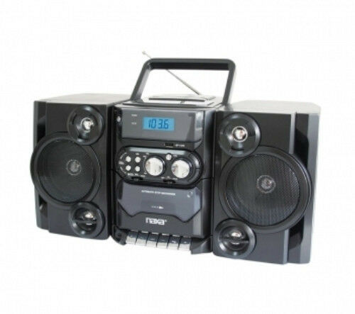 naxa portable mp3 cd player with am fm stereo radio cassette player recorder ebay. Black Bedroom Furniture Sets. Home Design Ideas
