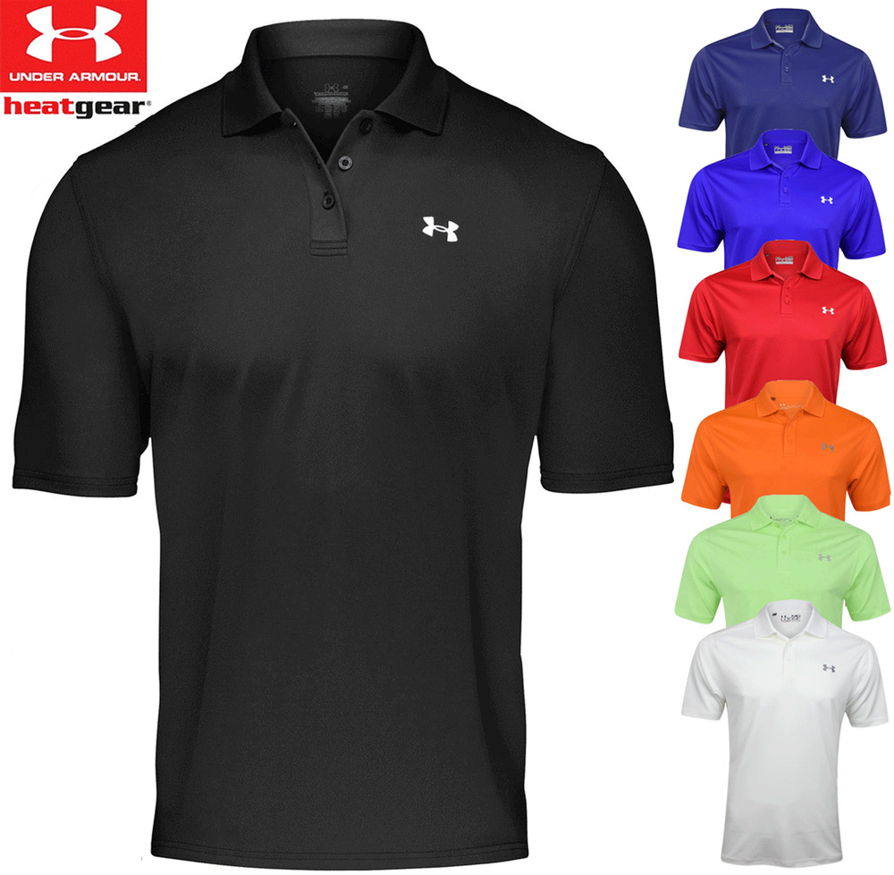 New 2017 under armour performance 2 0 tour logo mens for Under armour 3xl polo shirts