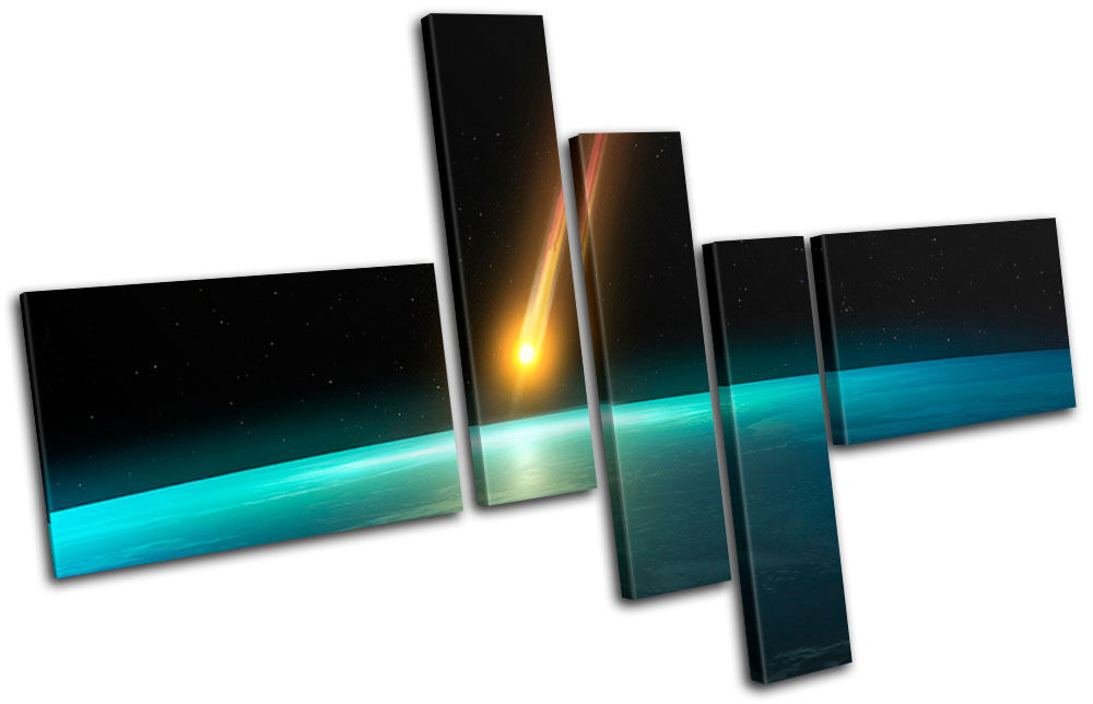 Wall Art Multi Canvas : Meteor science space multi canvas wall art picture print