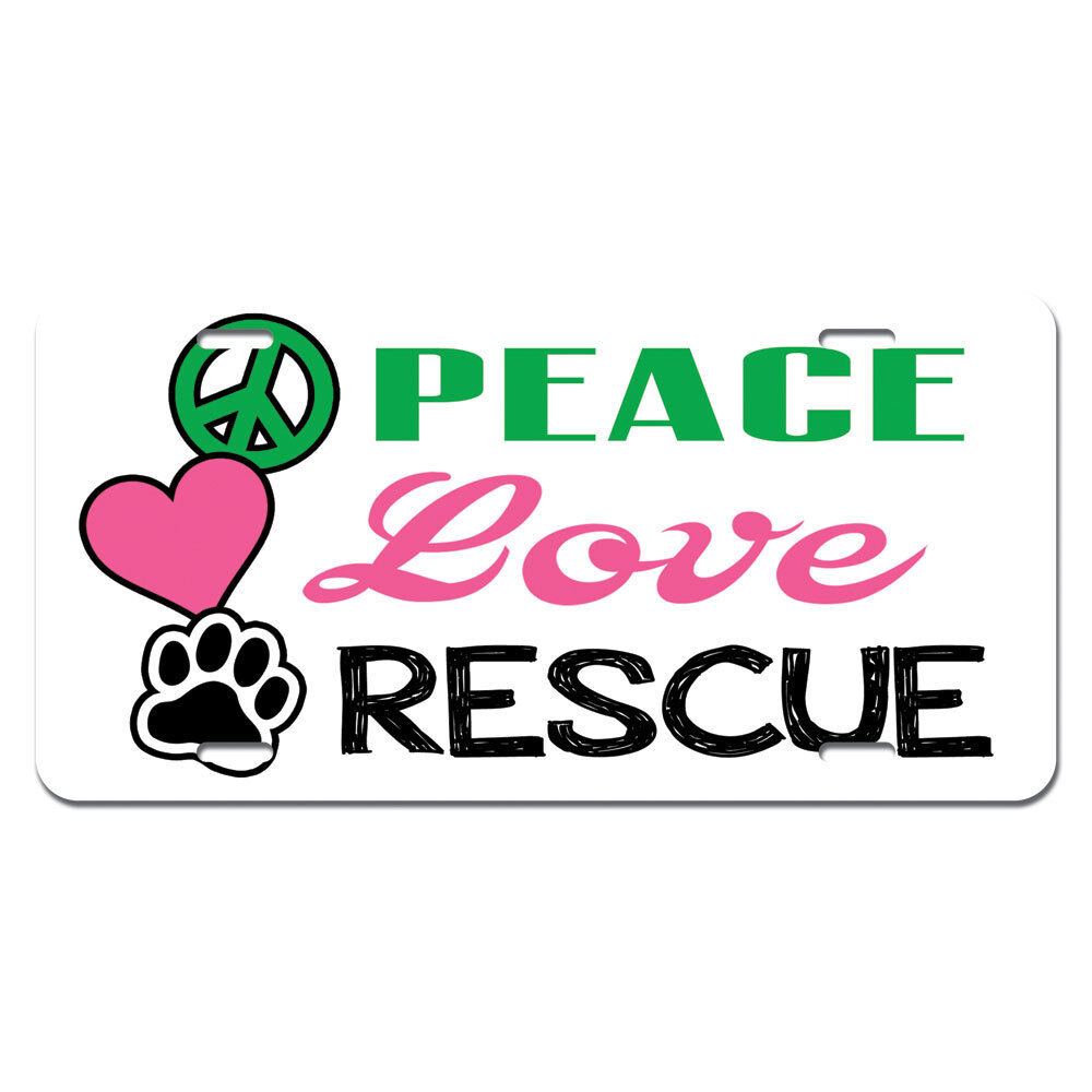 Peace Love Rescue Adopt Animal Shelter Pet Dogs Cats Paw