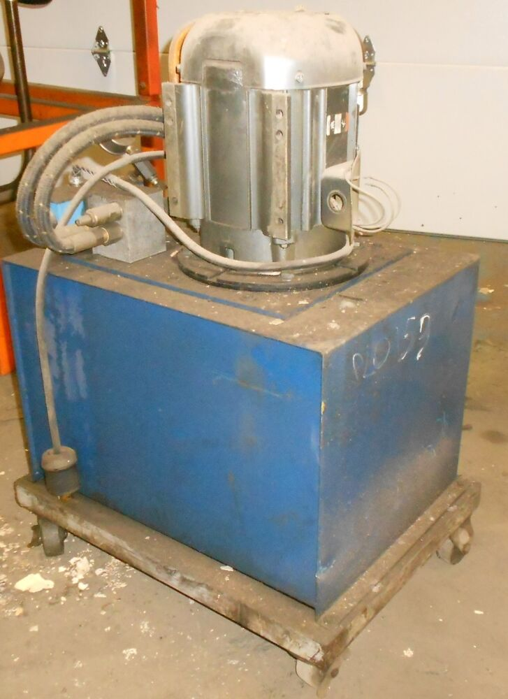 Hydraulic Pump Tank W Lincoln Electric Motor 5 Hp 3