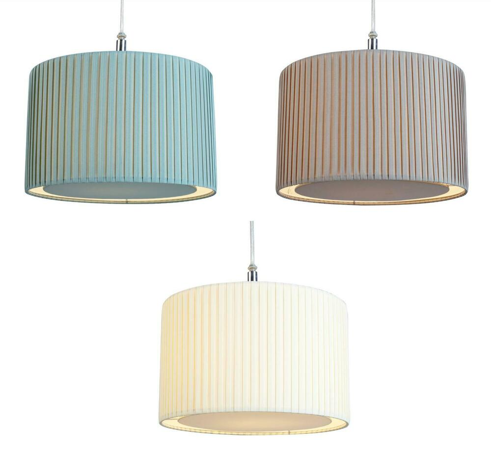 Pleated Fabric Drum Lampshade Diffuser Ceiling Light Lamp