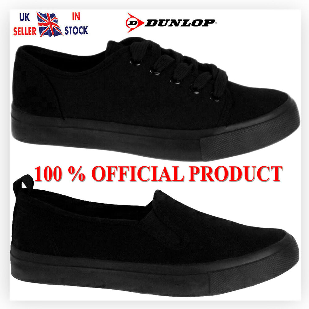cec039252f7c BRANDED LADIES WOMEN GIRLS DUNLOP CANVAS PE SPORTS GYM CASUAL SCHOOL SHOES  SIZE