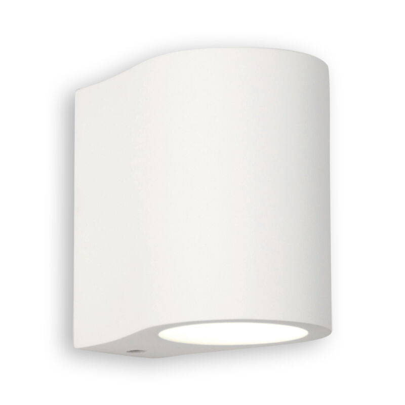 Curved Plaster Wall Lights : Astro Pero Modern Curved White Plaster Halogen Living Wall Light eBay