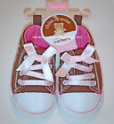 CARTER'S – BABY GIRL HIGH TOP SHOES – NB/INFANT SIZES –  BROWN & PINK - NWT