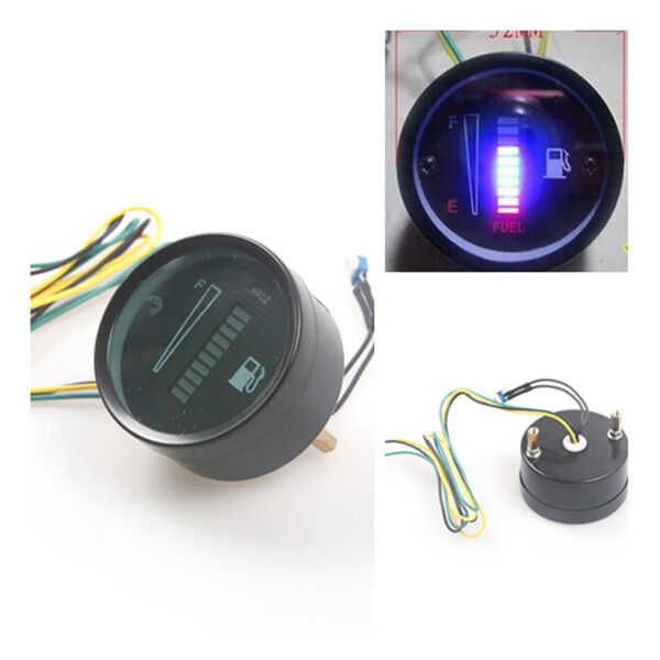 2  U0026quot  52mm Fuel Meter Led Digital Dc12v Fuel Gauge For Car