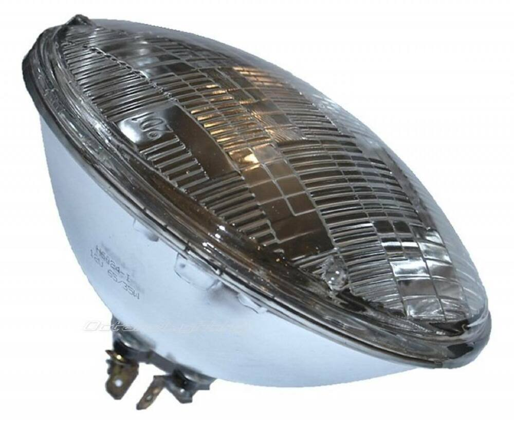 7 round halogen sealed beam glass headlight head lamp. Black Bedroom Furniture Sets. Home Design Ideas