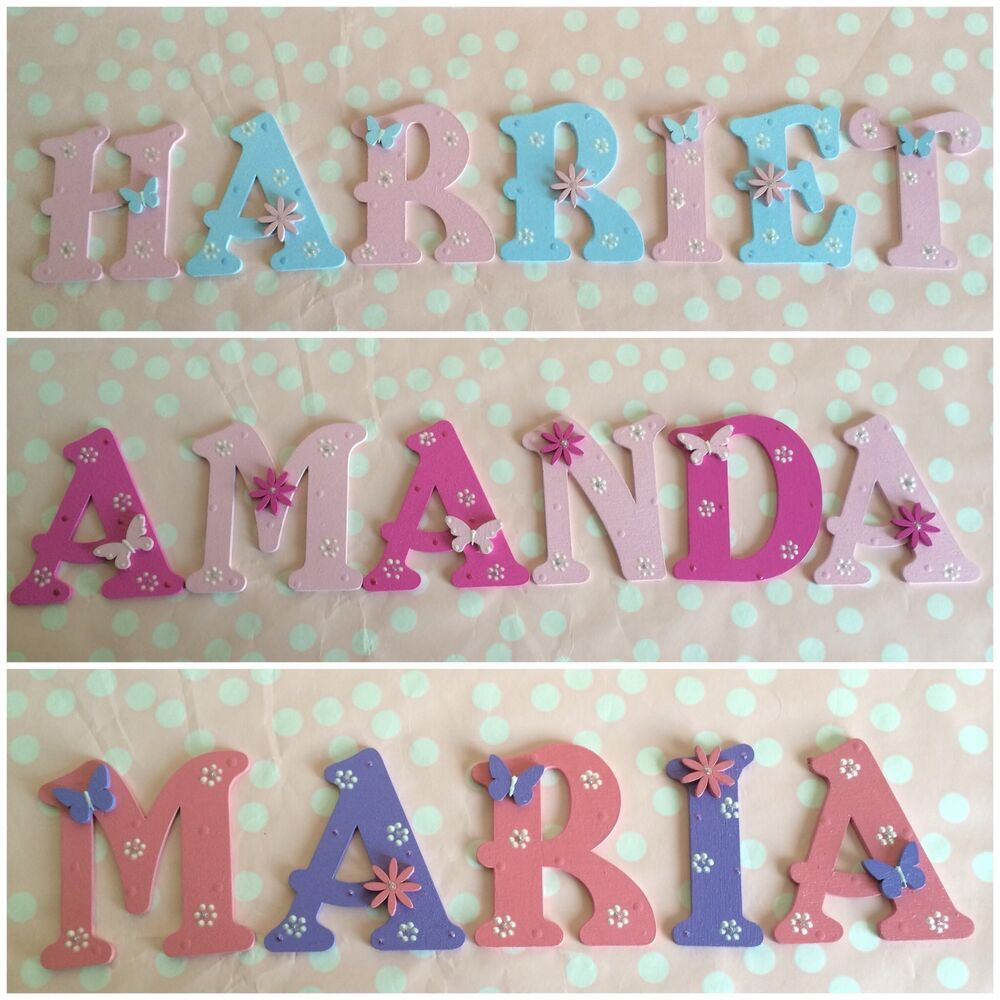 Customised children baby gift bedroom nursery wall door for Baby name nursery decoration