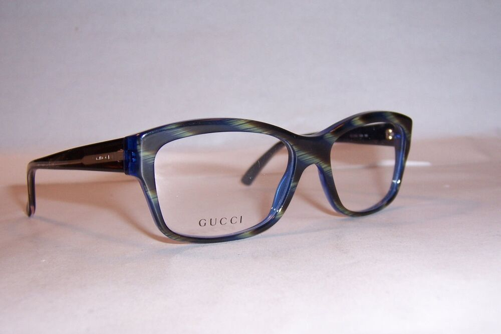 NEW GUCCI EYEGLASSES GG 3205 GG3205 Y0A BLUE GREEN 53mm RX ...