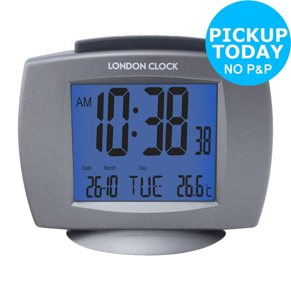 lc radio controlled day and date alarm clock from the argos shop on ebay ebay. Black Bedroom Furniture Sets. Home Design Ideas