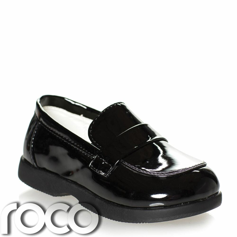 Boys Patent Black Loafer Shoes Boys Formal Shoes Baby ...